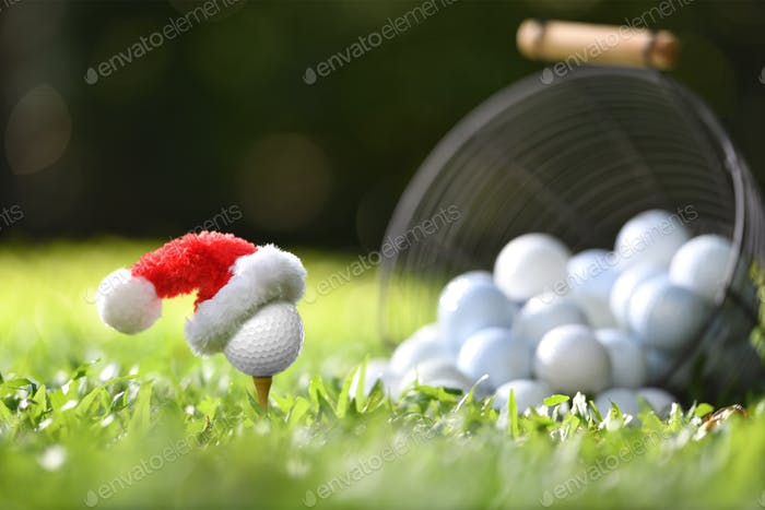 Golf, Christmas, Santa Claus