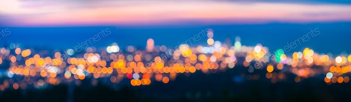 Blurred Bokeh Architectural Urban Backdrop. Background With Urba