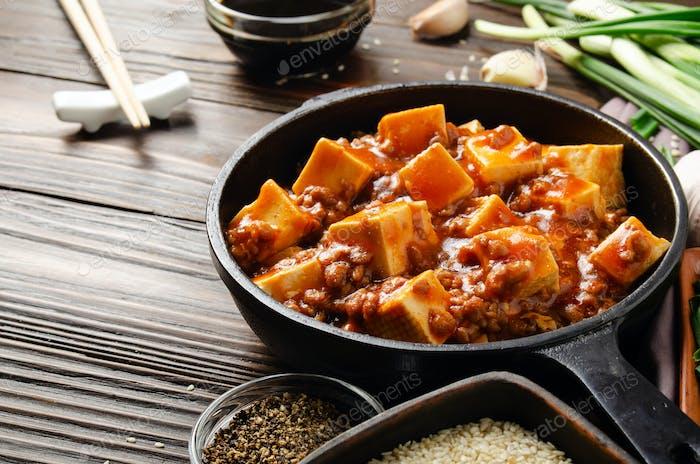 Traditional Chinese food mapo tofu