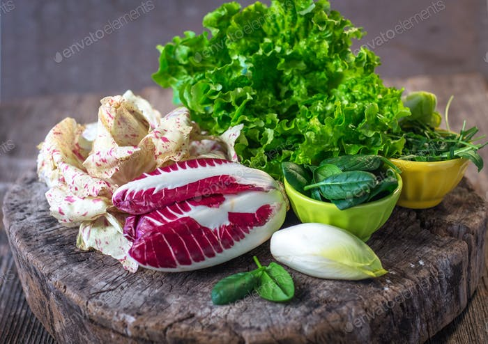 Fresh colorful  lettuce