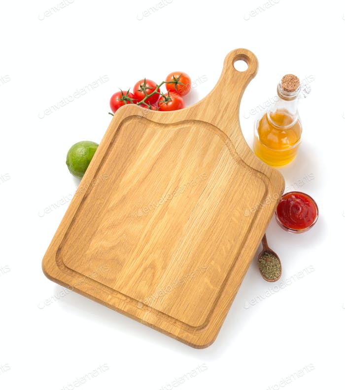cutting board with  ingredient
