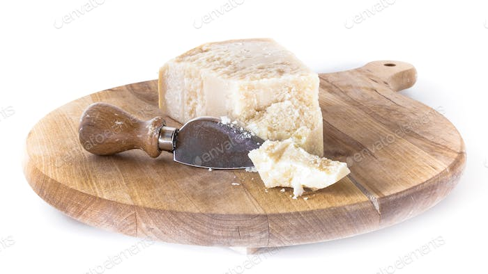 Cutting board with Parmesan