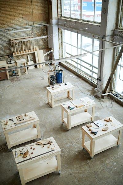 Nobody in spacious carpentry