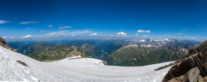 Panorama of snow mountain