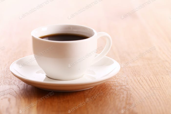 Cup of hot coffe