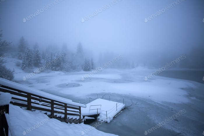 Lake at winter