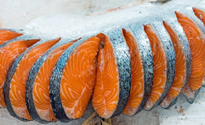 Filete fresco de salmón