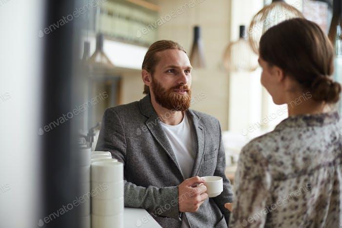 Geschäftsleute auf Coffe Break