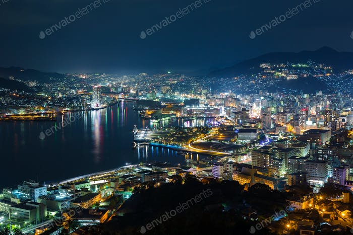 Nagasaki skyline at night