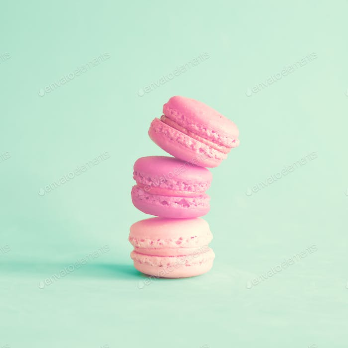 Macarons, french and colorful