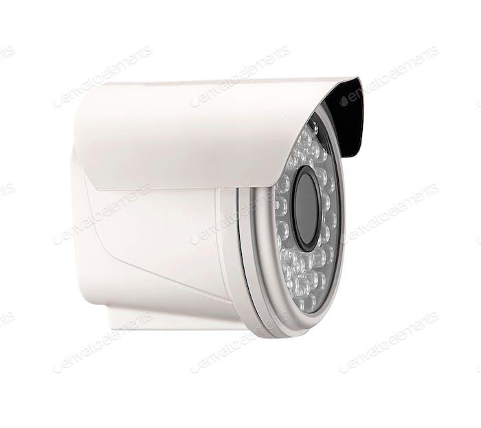 Spionagekamera isoliert auf weiß