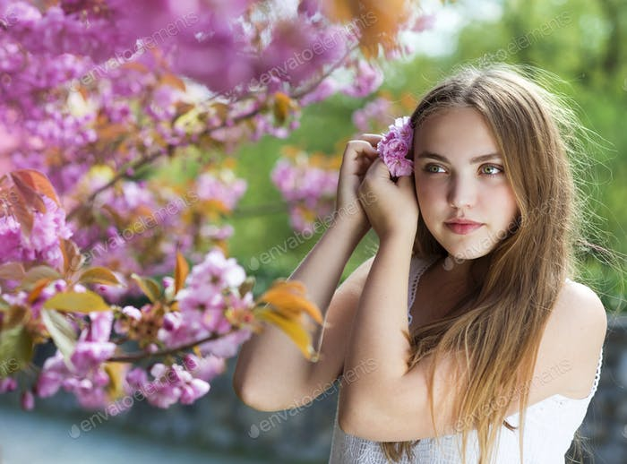 Beautiful spring girl