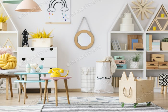 Scandi child's room interior