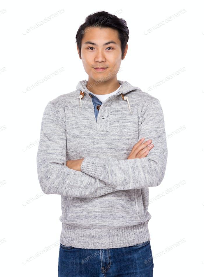 Asian man smile