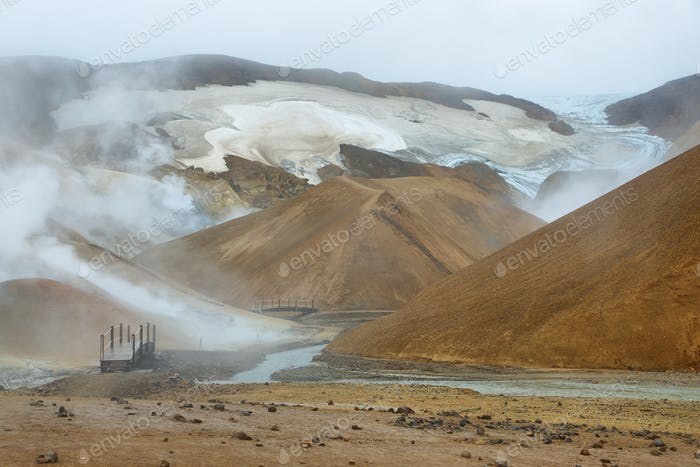 Erdwärmegebiet Kerlingarfjoll, Island