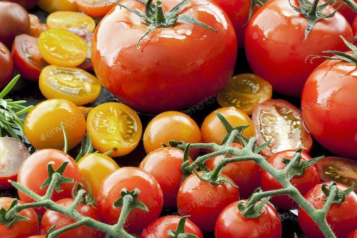 Tomato Varieties on Black