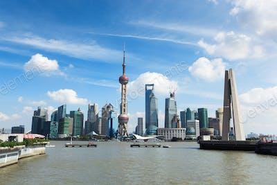 beautiful shanghai at daytime
