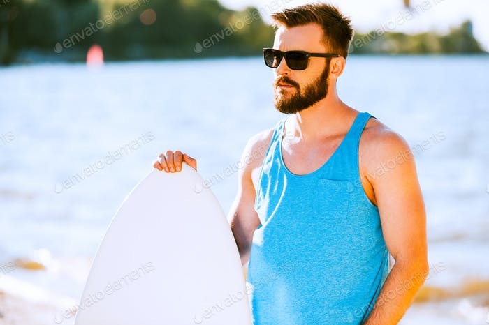 Confident surfer.