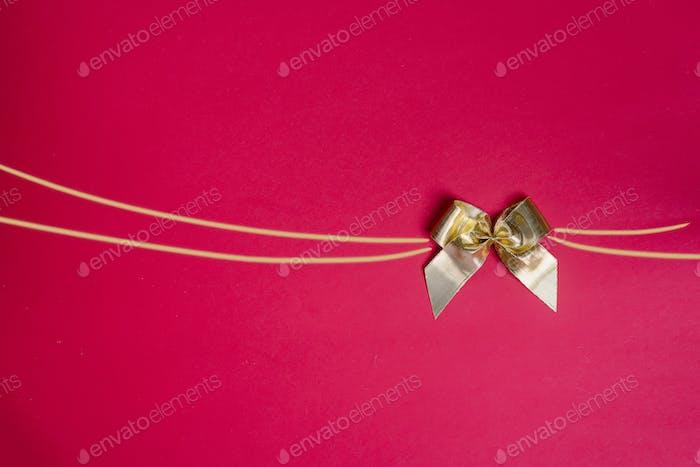 Stylish gold bow glittering