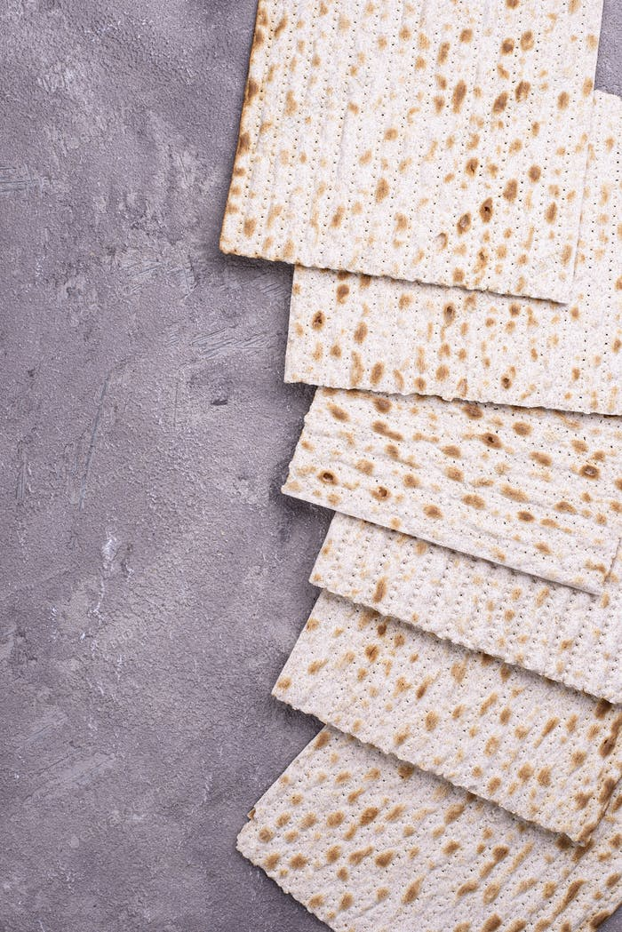 Traditional ritual Jewish bread matzah