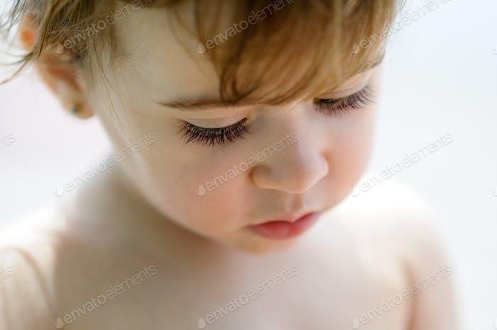 Close-up potrait of adorable little girl