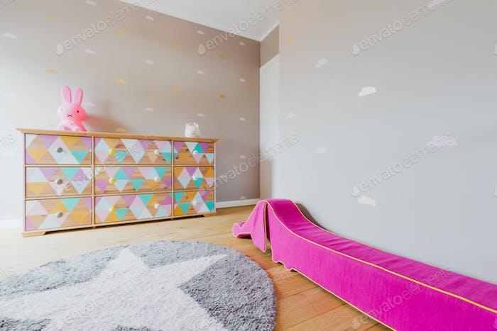 Modern room for little girl