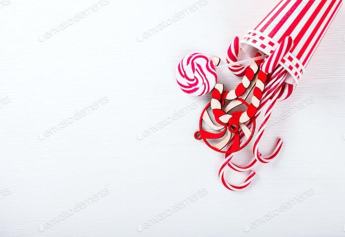 Weihnachten Traditionelle Weihnachtsbonbons