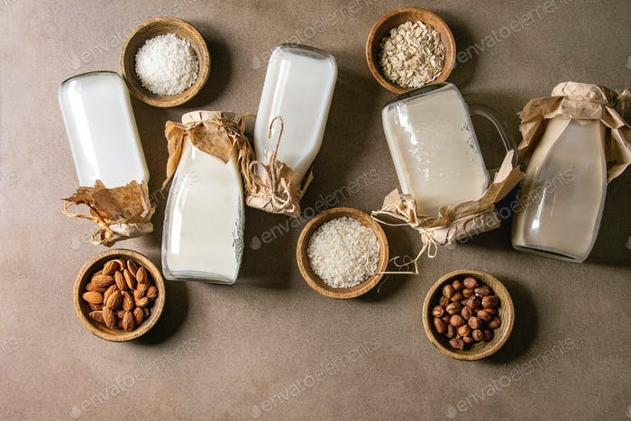 Sorte von Milch ohne Milch