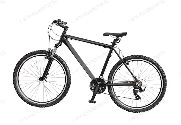 A bike isolated on white