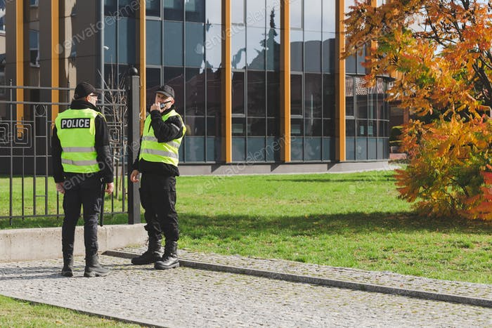 Patrol on the street is a part of police daily work