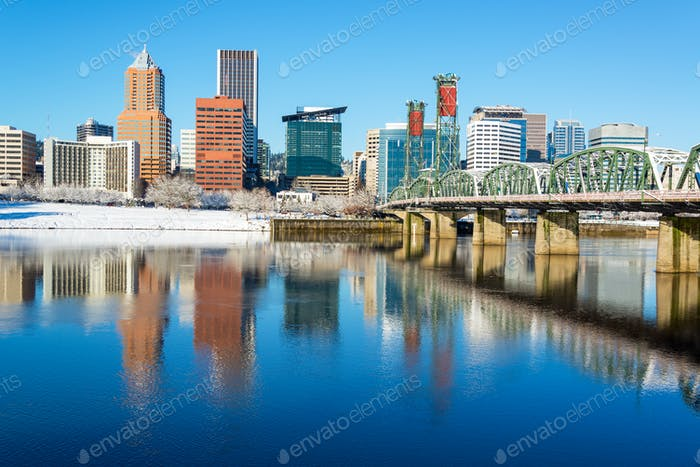 Downtown Portland Reflection