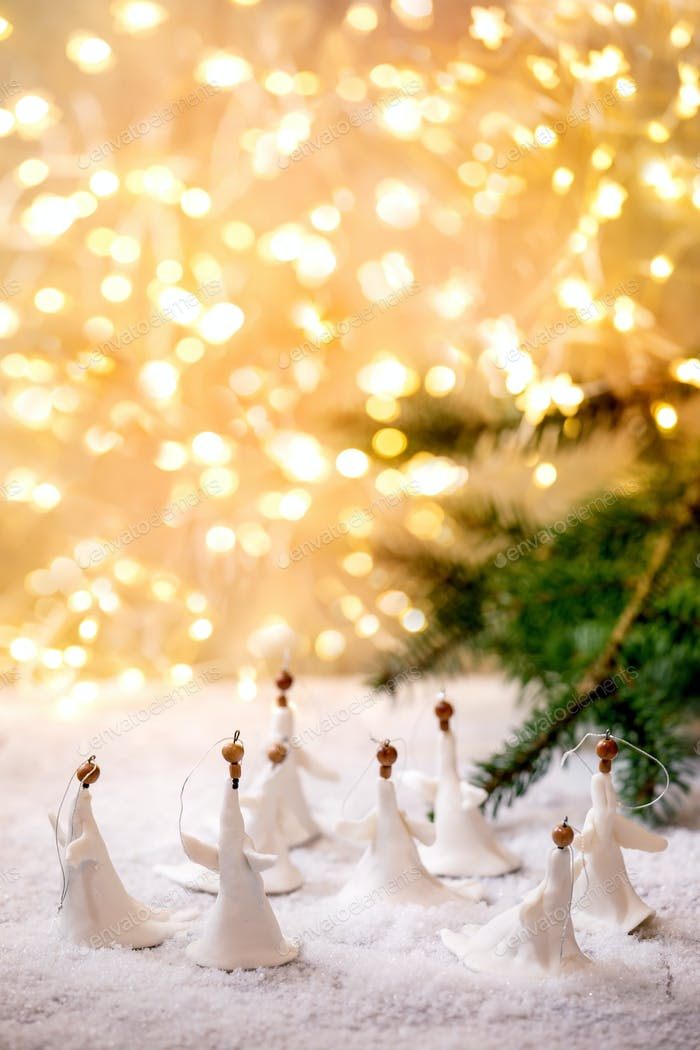 Porcelain Christmas angels