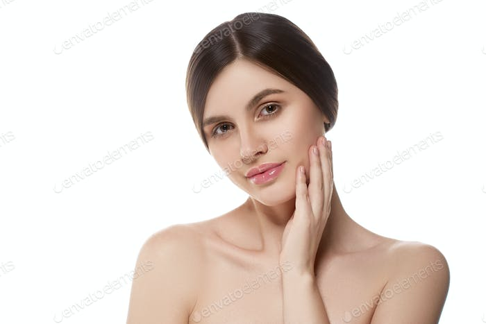 Female beautywoman clean skin portrait
