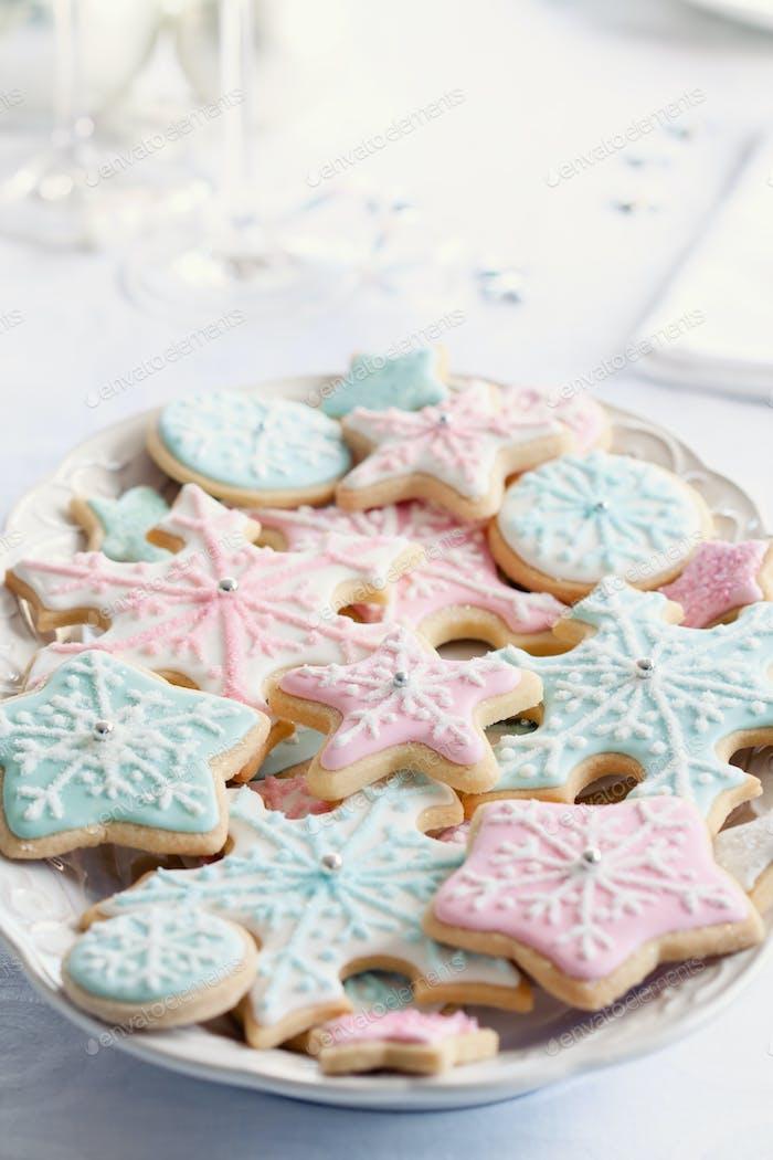 Schneeflocke Kekse