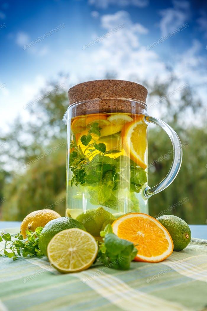 Summer homemade cocktail