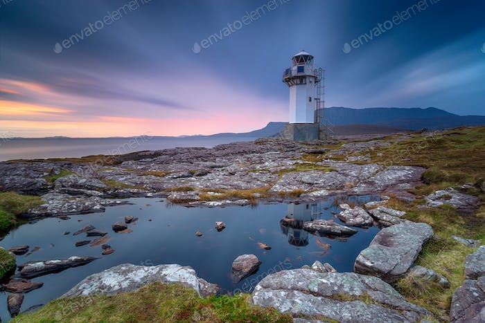 A long exposure of the lighthouse at Rhue