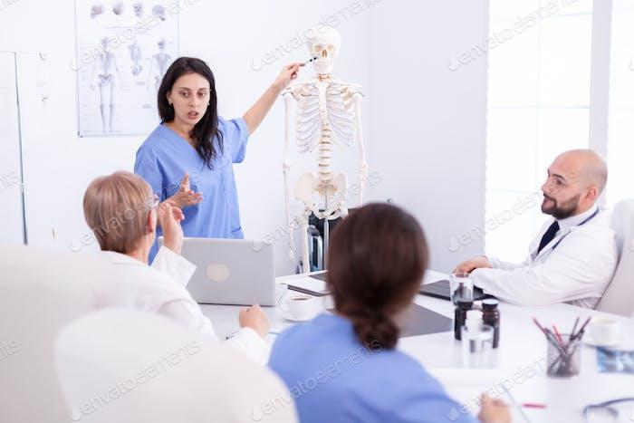 Female radiologist doctor