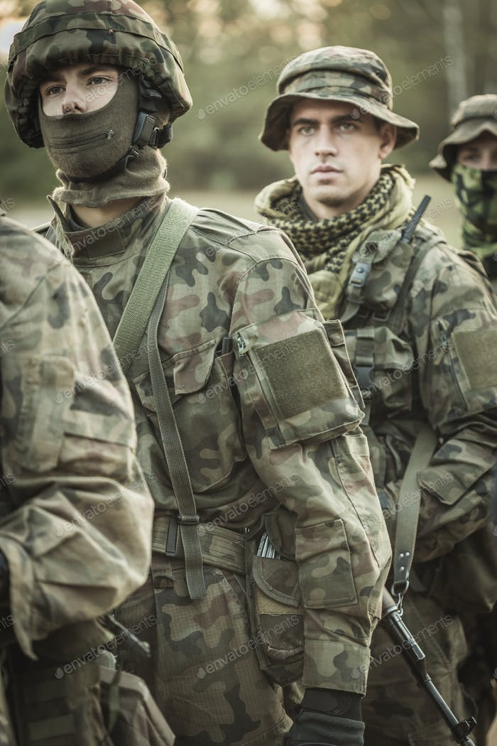 Professional training for army soldiers