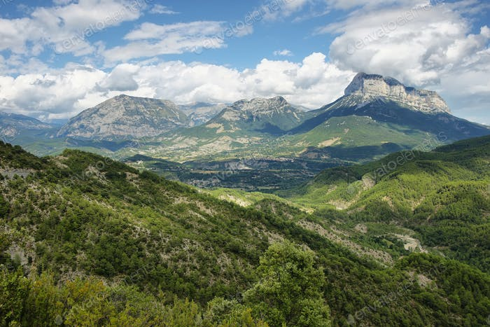 Penya Montanyesa in the Aragonese Pyrenees, Spain.