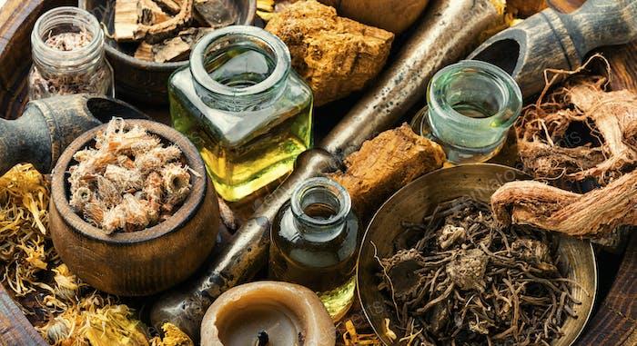 Natürliche Kräuter Medizin