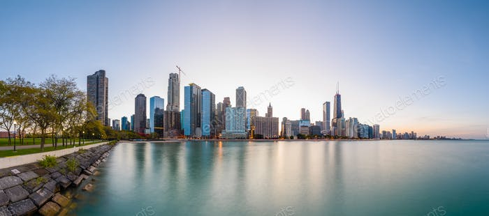 Chicago, Illinois, USA Lake Skyline