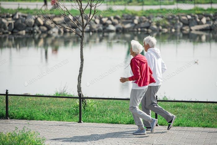 Active Senior Couple Outdoors