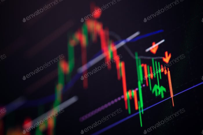 Antecedentes del gráfico del mercado bursátil