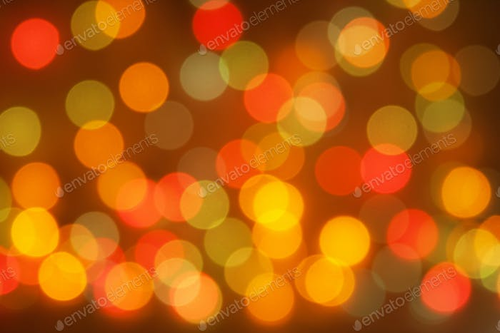Christmas blurred lights