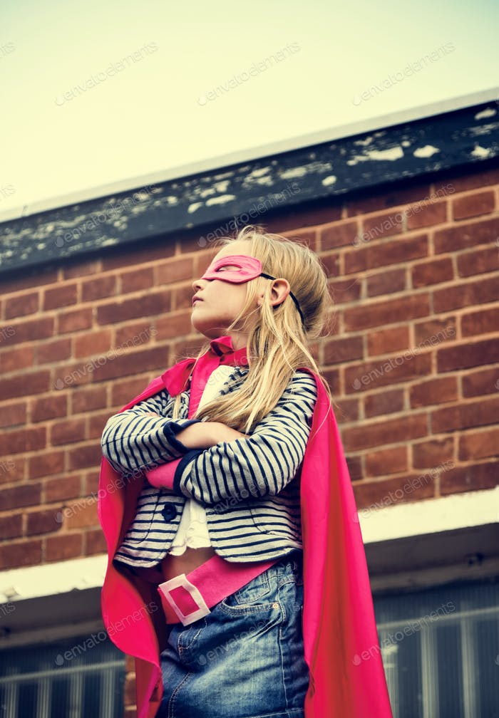Superhero Baby Girl Brave Adorable Konzept