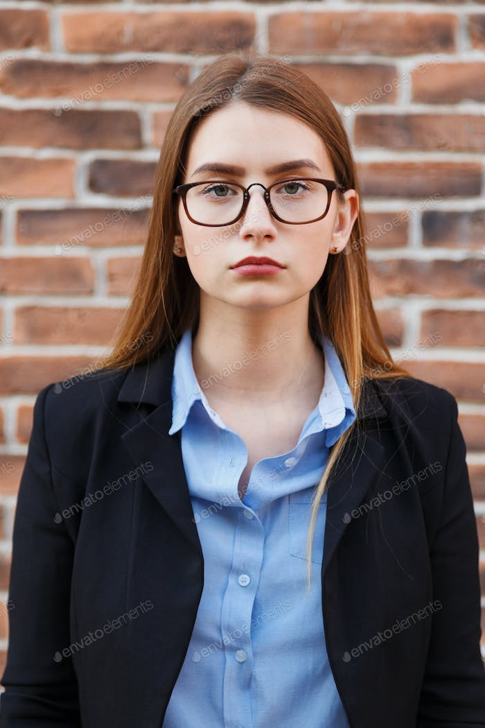 Thumbnail for Portrait of beautiful business woman wearing glasses