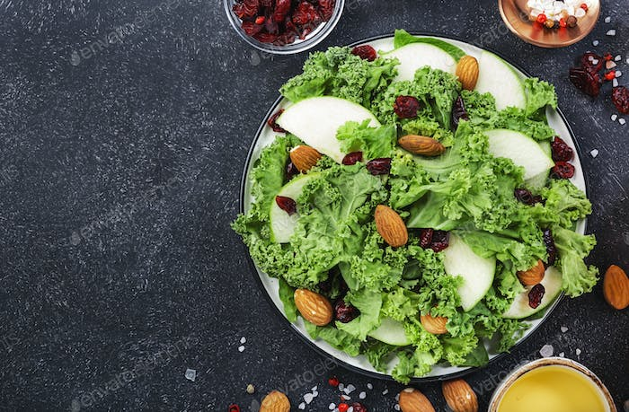 Kale salad with dried cranberry