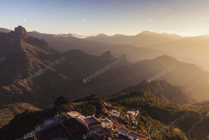 Gran Canaria panorama seen from Artenara
