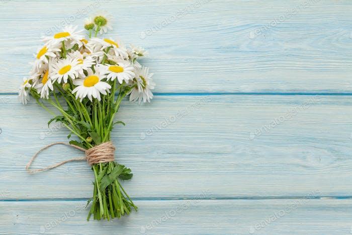 Garden camomile flowers bouquet