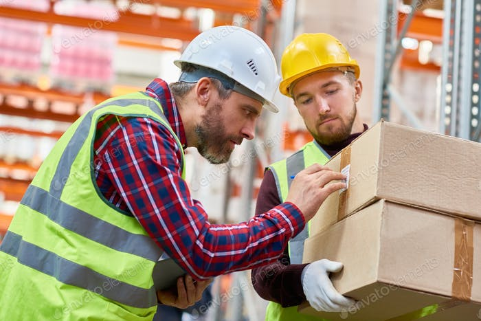 Shipping Workers in Warehouse